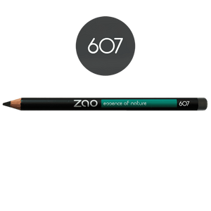 This image shows the ZAO Cosmetics and ZAO Natural Organic Mineral Vegan Cruelty-Free (like Inika, Bobbi Brown and Nude By Nature) and Refillable Bamboo Makeup Australia Online Retail Store Pencil Taupe Grey 607