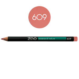 This image shows the ZAO Cosmetics and ZAO Natural Organic Mineral Vegan Cruelty-Free (like Inika, Bobbi Brown and Nude By Nature) and Refillable Bamboo Makeup Australia Online Retail Store Pencil Old Pink 609