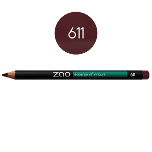 This image shows the ZAO Natural Organic Mineral Vegan Cruelty-Free (like Inika, Bobbi Brown and Nude By Nature) and Refillable Bamboo Makeup Australia Online Retail Store Pencil Crimson 611