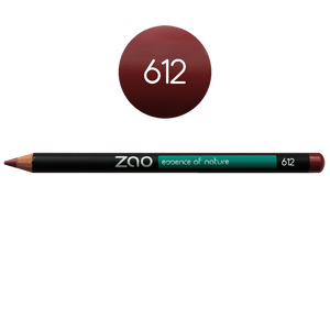 This image shows the ZAO Cosmetics and ZAO Natural Organic Mineral Vegan Cruelty-Free (like Inika, Bobbi Brown and Nude By Nature) and Refillable Bamboo Makeup Australia Online Retail Store Pencil Burgundy 612