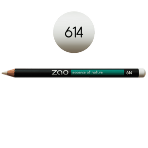 This image shows the ZAO Cosmetics and ZAO Natural Organic Mineral Vegan Cruelty-Free (like Inika, Bobbi Brown and Nude By Nature) and Refillable Bamboo Makeup Australia Online Retail Store Pencil White 614
