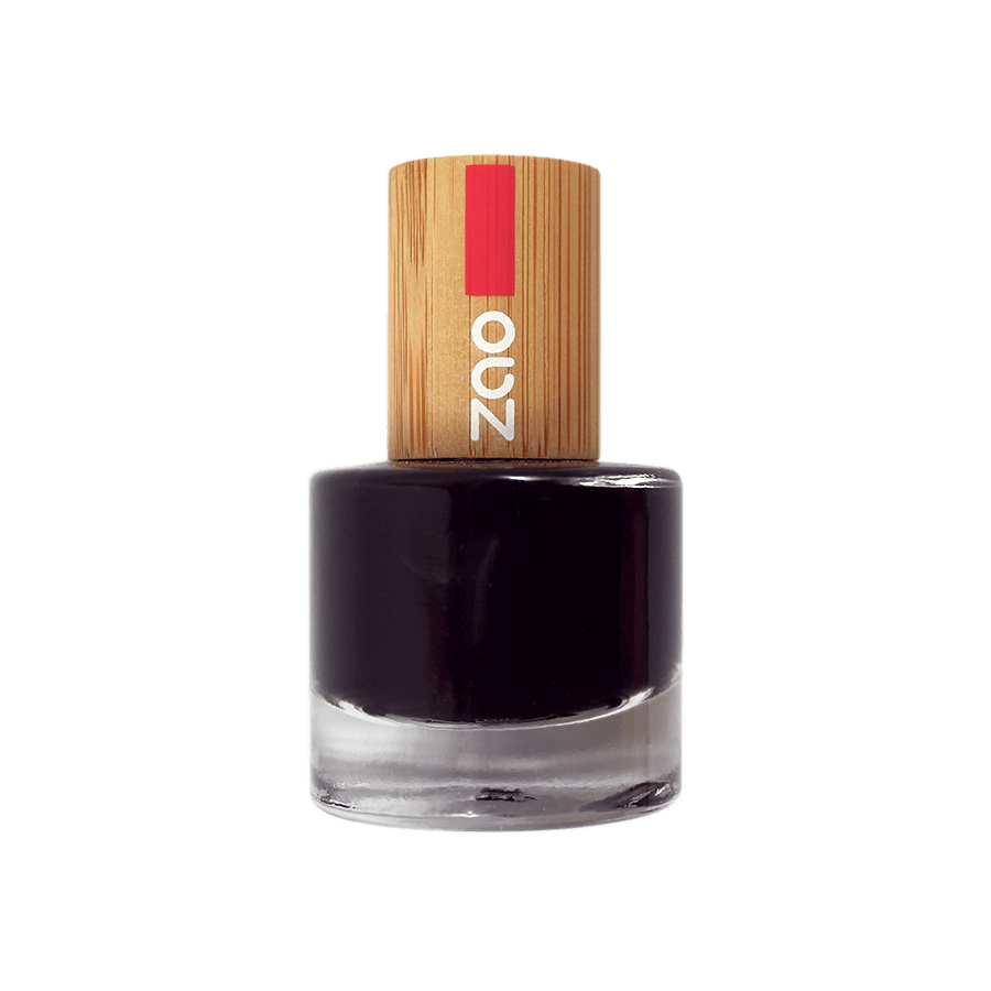 This image shows the ZAO Makeup  Nail Polish Black 644