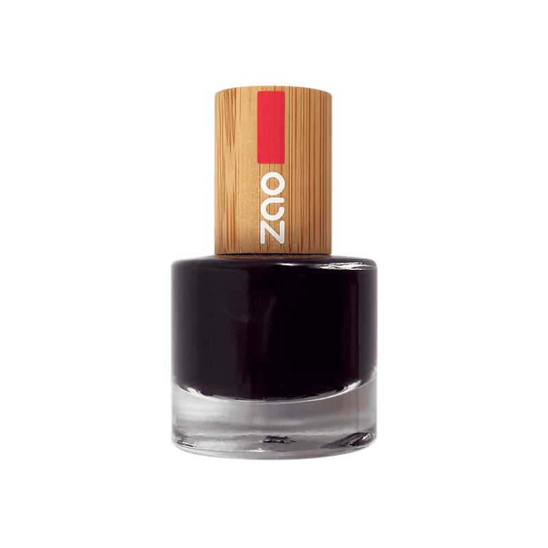 This image shows the ZAO Cosmetics and ZAO Natural Organic Mineral Vegan Cruelty-Free (like Inika, Bobbi Brown and Nude By Nature) and Refillable Bamboo Makeup Australia Online Retail Store Nail Polish Black 644