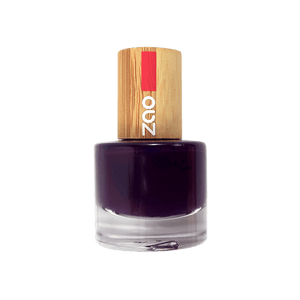 This image shows the ZAO Natural Organic Mineral Vegan Cruelty-Free (like Inika, Bobbi Brown and Nude By Nature) and Refillable Bamboo Makeup Australia Online Retail Store  Nail Polish Black Cherry 649