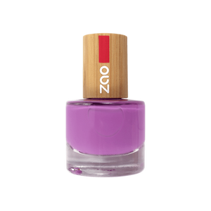 This image shows the ZAO Cosmetics and ZAO Natural Organic Mineral Vegan Cruelty-Free (like Inika, Bobbi Brown and Nude By Nature) and Refillable Bamboo Makeup Australia Online Retail Store Nail Polish Lilac 652