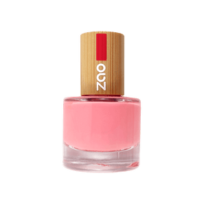 This image shows the ZAO Cosmetics and ZAO Natural Organic Mineral Vegan Cruelty-Free (like Inika, Bobbi Brown and Nude By Nature) and Refillable Bamboo Makeup Australia Online Retail Store Nail Polish Hot Pink 654