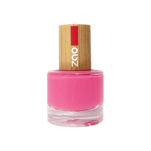 This image shows the ZAO Cosmetics and ZAO Natural Organic Mineral Vegan Cruelty-Free (like Inika, Bobbi Brown and Nude By Nature) and Refillable Bamboo Makeup Australia Online Retail Store Nail Polish Fushia Pink 657