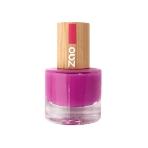 This image shows the ZAO Cosmetics and ZAO Natural Organic Mineral Vegan Cruelty-Free (like Inika, Bobbi Brown and Nude By Nature) and Refillable Bamboo Makeup Australia Online Retail Store Nail Polish Fushia 661