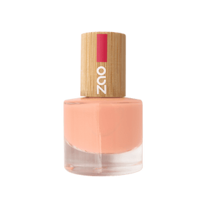 This image shows the ZAO Natural Organic Mineral Vegan Cruelty-Free (like Inika, Bobbi Brown and Nude By Nature) and Refillable Bamboo Makeup Australia Online Retail Store Nail Polish Peach Fizz 664