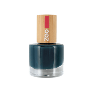 This image shows the ZAO Cosmetics and ZAO Natural Organic Mineral Vegan Cruelty-Free (like Inika, Bobbi Brown and Nude By Nature) and Refillable Bamboo Makeup Australia Online Retail Store Nail Polish Blue Duck 666