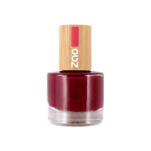 This image shows the ZAO Natural Organic Mineral Vegan Cruelty-Free (like Inika, Bobbi Brown and Nude By Nature) and Refillable Bamboo Makeup Australia Online Retail Store Nail Polish Passion Red 668