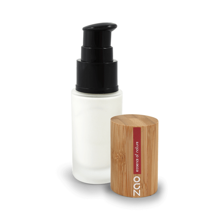 This image shows the ZAO Makeup  Primer - Light Complexion Base - Bamboo Case Product