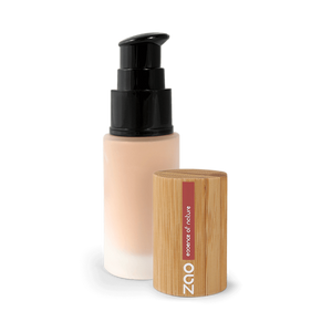 This image shows the ZAO Cosmetics and ZAO Natural Organic Mineral Vegan Cruelty-Free (like Inika, Bobbi Brown and Nude By Nature) and Refillable Bamboo Makeup Australia Online Retail Store Fluid Foundation 701
