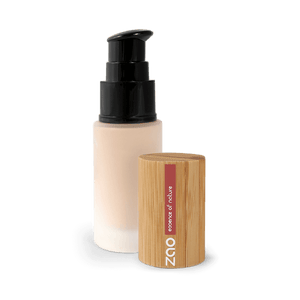 This image shows the ZAO Cosmetics and ZAO Natural Organic Mineral Vegan Cruelty-Free (like Inika, Bobbi Brown and Nude By Nature) and Refillable Bamboo Makeup Australia Online Retail Store Fluid Foundation - Bamboo Case Product Light Peach 710