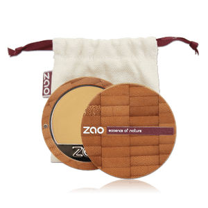 This image shows the ZAO Cosmetics and ZAO Natural Organic Mineral Vegan Cruelty-Free (like Inika, Bobbi Brown and Nude By Nature) and Refillable Bamboo Makeup Australia Online Retail Store Cream Compact Foundation - Bamboo Case Product Ivory 730