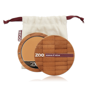 This image shows the ZAO Cosmetics and ZAO Natural Organic Mineral Vegan Cruelty-Free (like Inika, Bobbi Brown and Nude By Nature) and Refillable Bamboo Makeup Australia Online Retail Store Cream Compact Foundation - Bamboo Case Product Apricot 731
