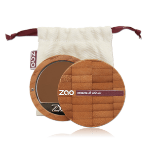 This image shows the ZAO Cosmetics and ZAO Natural Organic Mineral Vegan Cruelty-Free (like Inika, Bobbi Brown and Nude By Nature) and Refillable Bamboo Makeup Australia Online Retail Store Cream Compact Foundation - Bamboo Case Product Chocolate 735