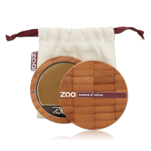 This image shows the ZAO Cosmetics and ZAO Natural Organic Mineral Vegan Cruelty-Free (like Inika, Bobbi Brown and Nude By Nature) and Refillable Bamboo Makeup Australia Online Retail Store Cream Compact Foundation - Bamboo Case Product Topaz 736