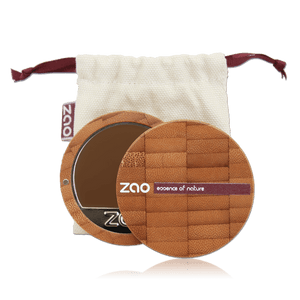 This image shows the ZAO Makeup  Cream Compact Foundation - Bamboo Case Product Hazelnut 738