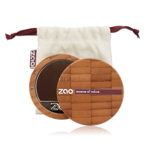 This image shows the ZAO Makeup  Cream Compact Foundation - Bamboo Case Product Dark Mahogany 740