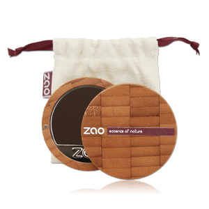This image shows the ZAO Makeup  Cream Compact Foundation - Bamboo Case Product Mocha 741