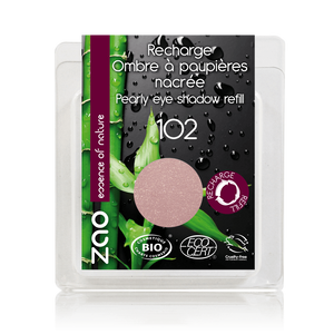 This image shows the ZAO Cosmetics and ZAO Natural Organic Mineral Vegan Cruelty-Free (like Inika, Bobbi Brown and Nude By Nature) and Refillable Bamboo Makeup Australia Online Retail Store Pearly Eyeshadow - Refill Old Pink 103