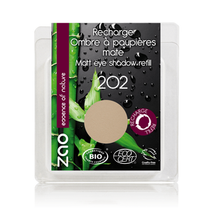 This image shows the ZAO Cosmetics and ZAO Natural Organic Mineral Vegan Cruelty-Free (like Inika, Bobbi Brown and Nude By Nature) and Refillable Bamboo Makeup Australia Online Retail Store Matt Eyeshadow - Refill Brown Beige 202