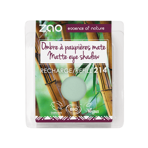 This image shows the ZAO Cosmetics and ZAO Natural Organic Mineral Vegan Cruelty-Free (like Inika, Bobbi Brown and Nude By Nature) and Refillable Bamboo Makeup Australia Online Retail Store Matt Eyeshadow - Refill Aquamarine 214