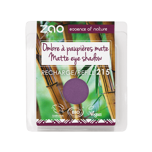 This image shows the ZAO Cosmetics and ZAO Natural Organic Mineral Vegan Cruelty-Free (like Inika, Bobbi Brown and Nude By Nature) and Refillable Bamboo Makeup Australia Online Retail Store Matt Eyeshadow - Refill Purplish Grape 215