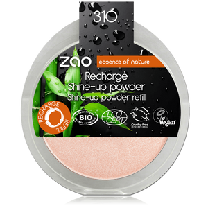 This image shows the ZAO Cosmetics and ZAO Natural Organic Mineral Vegan Cruelty-Free (like Inika, Bobbi Brown and Nude By Nature) and Refillable Bamboo Makeup Australia Online Retail Store Highlighter - Shine up Powder - Refill