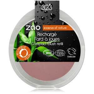 This image shows the ZAO Natural Organic Mineral Vegan Cruelty-Free (like Inika, Bobbi Brown and Nude By Nature) and Refillable Bamboo Makeup Australia Online Retail Store Blush - Refill Dark Purple 323