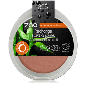 This image shows the ZAO Cosmetics and ZAO Natural Organic Mineral Vegan Cruelty-Free (like Inika, Bobbi Brown and Nude By Nature) and Refillable Bamboo Makeup Australia Online Retail Store Blush - Refill Golden Coral 325