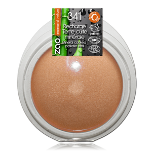 This image shows the ZAO Natural Organic Mineral Vegan Cruelty-Free (like Inika, Bobbi Brown and Nude By Nature) and Refillable Bamboo Makeup Australia Online Retail Store Bronzer - Mineral Cooked Powder - Refill Golden Copper 341
