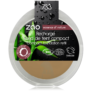 This image shows the ZAO Cosmetics and ZAO Natural Organic Mineral Vegan Cruelty-Free (like Inika, Bobbi Brown and Nude By Nature) and Refillable Bamboo Makeup Australia Online Retail Store Cream Compact Foundation - Refill Neutral 733