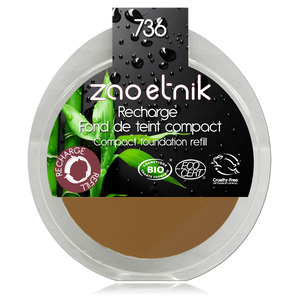 This image shows the ZAO Cosmetics and ZAO Natural Organic Mineral Vegan Cruelty-Free (like Inika, Bobbi Brown and Nude By Nature) and Refillable Bamboo Makeup Australia Online Retail Store Cream Compact Foundation - Refill Topaz 736