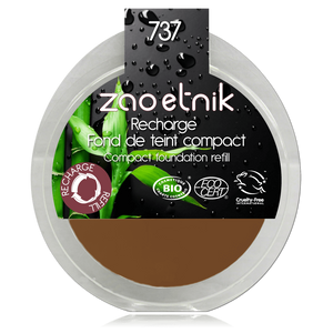This image shows the ZAO Cosmetics and ZAO Natural Organic Mineral Vegan Cruelty-Free (like Inika, Bobbi Brown and Nude By Nature) and Refillable Bamboo Makeup Australia Online Retail Store Cream Compact Foundation - Refill Bronze 737