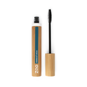 This image shows the ZAO Cosmetics and ZAO Natural Organic Mineral Vegan Cruelty-Free (like Inika, Bobbi Brown and Nude By Nature) and Refillable Bamboo Makeup Australia Online Retail Store Volume And Sheathing Mascara Ebony 085