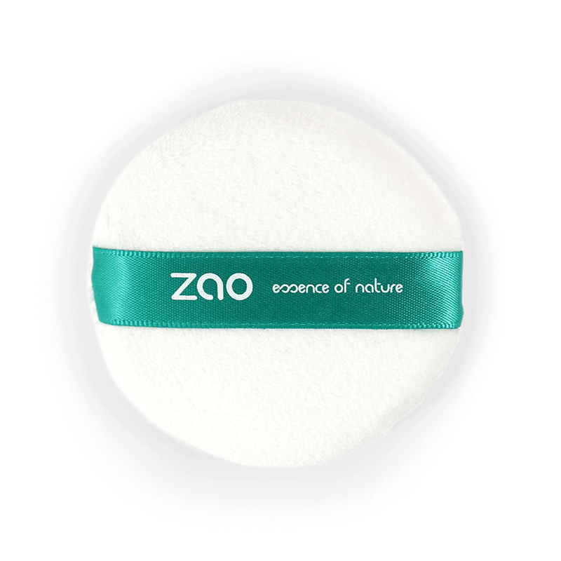 This image shows the ZAO Cosmetics and ZAO Natural Organic Mineral Vegan Cruelty-Free (like Inika, Bobbi Brown and Nude By Nature) and Refillable Bamboo Makeup Australia Online Retail Store Powder Puff