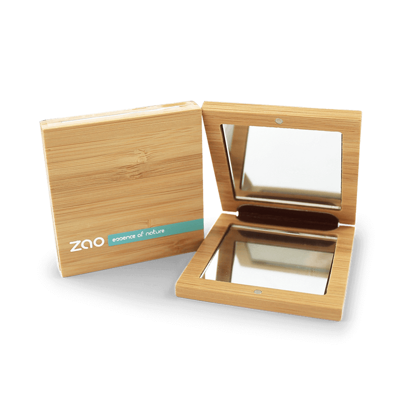 This image shows the ZAO Cosmetics and ZAO Natural Organic Mineral Vegan Cruelty-Free (like Inika, Bobbi Brown and Nude By Nature) and Refillable Bamboo Makeup Australia Online Retail Store Small Bamboo Mirror