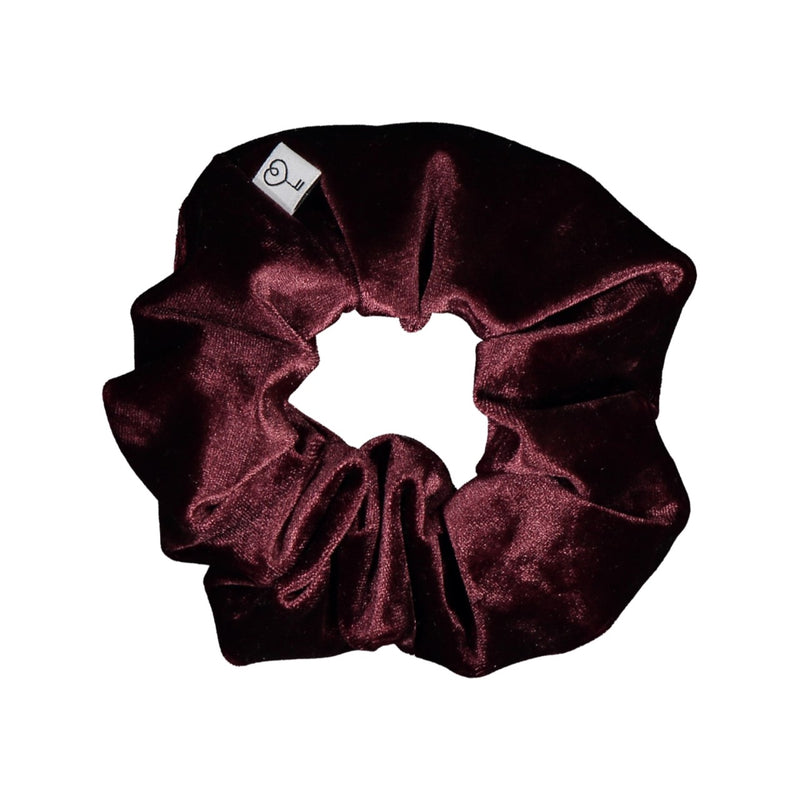 Velour Scrunchie XL, Claret