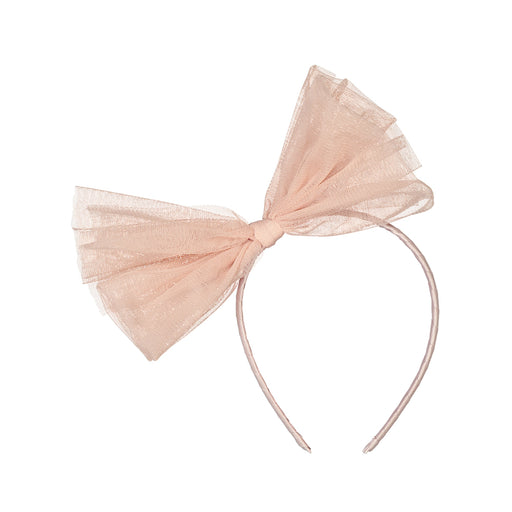 BEBE Tulle Headband, Perfect Nude