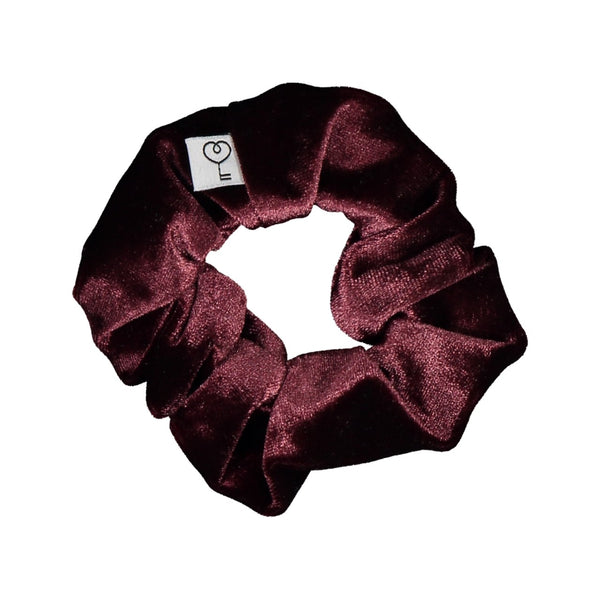 Velour Scrunchie, Claret