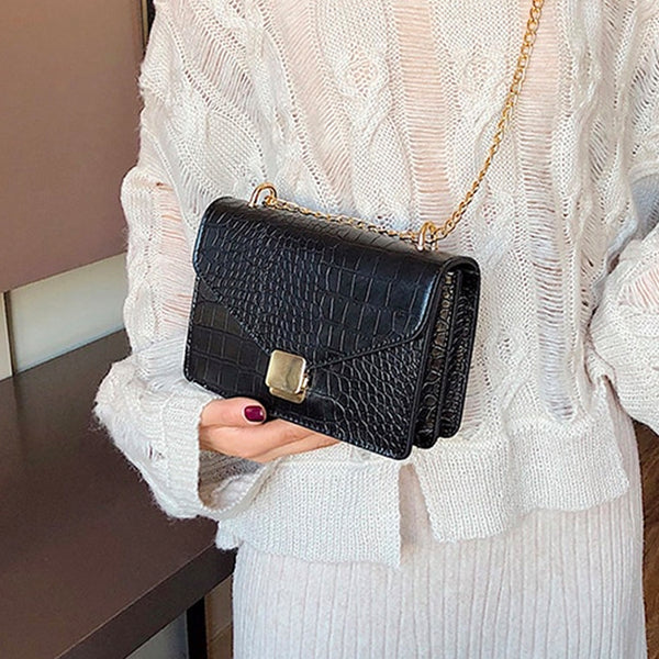 Abigail Crocodile Cross Body Bag