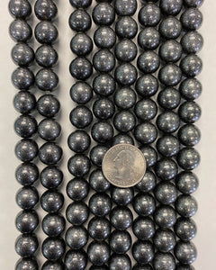 "13mm round, painted glitter silver black, vintage lucite beads,  sold per 16"" strand"