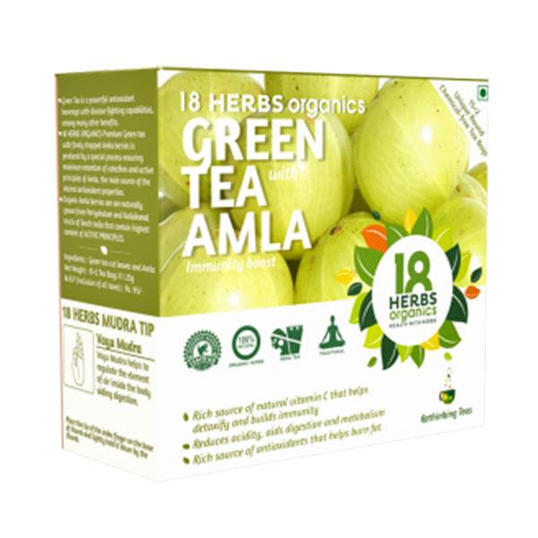 18 Herbs Green Tea - Amla, 17 Bags