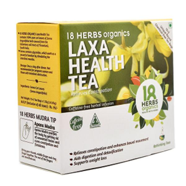 18 Herbs Laxa Health Tea - Relieves Constipation, 17 Bags