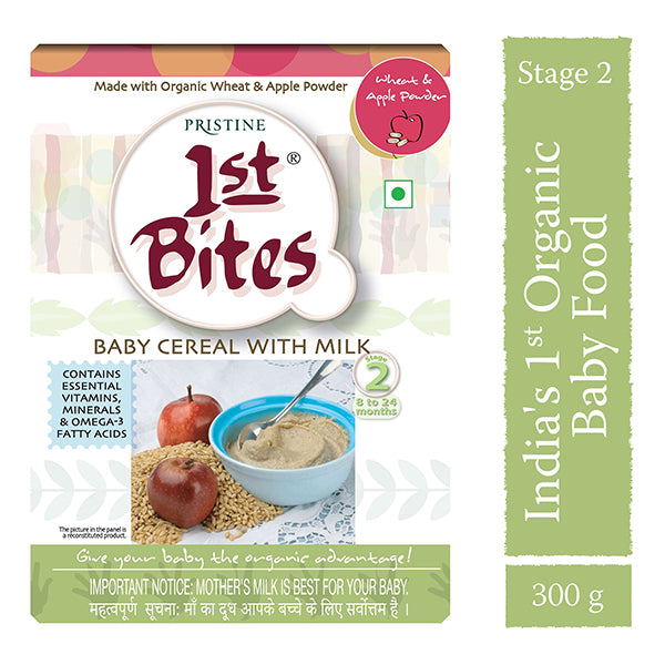 Pristine Wheat & Appe Powder - Baby Cereal With Milk, 300g