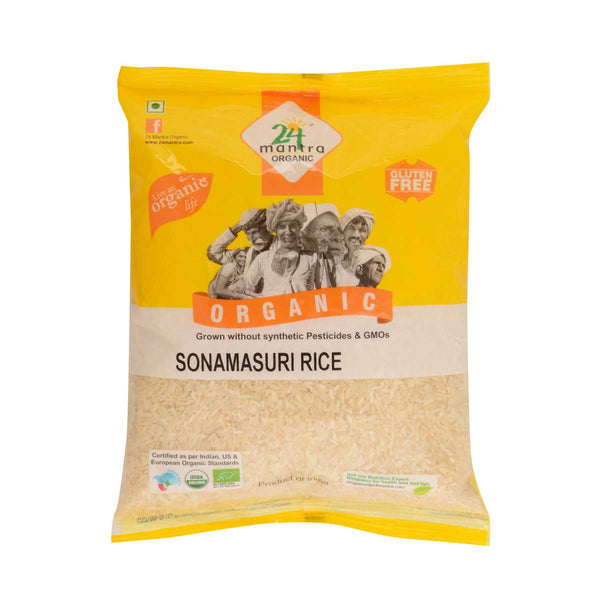 24 Mantra Sonamasuri Raw Polished Rice, 1Kg