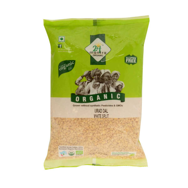 24 Mantra Urad Dal White Split,  500g