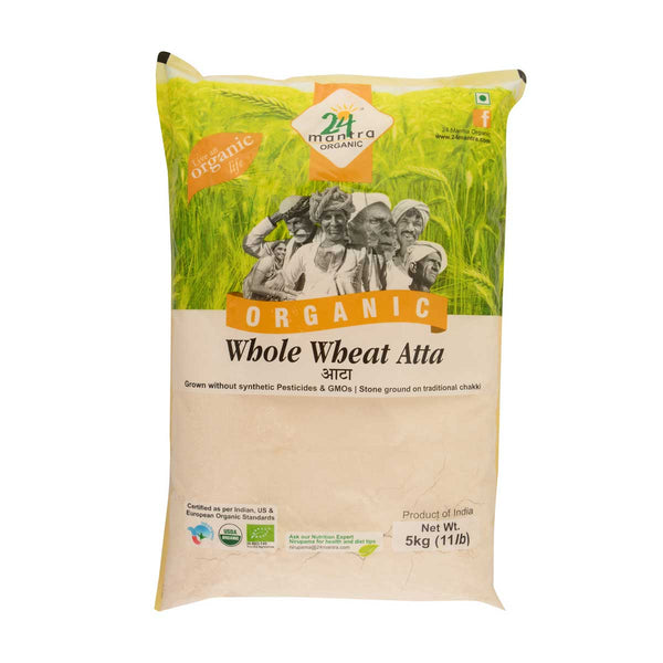 24 Mantra Wholewheat Atta Premium, 5Kg